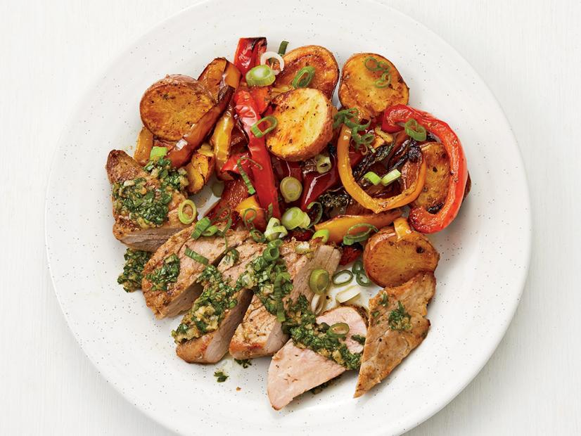 Sheet-Pan Pork and Potatoes